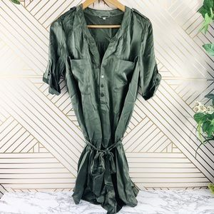 JOIE Green silk romper belted size S